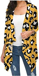 HEFASDM Womens Blouse Long Sleeve Fall Winter Print Plus Size Cardi Tees Top