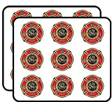 Maltese Shaped ST Louis FIRE Logo (City Missouri Firefighter) Sticker for Scrapbooking, Calendars, Arts, Album, Bullet Journals 2' 18 Pack