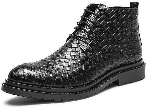 Hy Herren-Lederschuhe, künstliche PU-Schuhe, Freizeitschuhe, Casual Driving Schuhe Büro & Karriere (Farbe   Schwarz Größe   38)