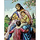 5D DIY Diamond Painting Religious Diamond Art Picture Cross Stitch Set Mosaic Diamond Embroidery Mural A2 45x60cm