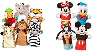 Melissa & Doug Safari Buddies Hand Puppets & Mickey Mouse & Friends Soft & Cuddly Hand Puppets