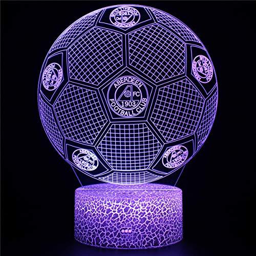 3D LED ilusión lámpara noche luz club de fútbol una lámpara 3D ilusión óptica lámpara 16 colores cambiante noche lámpara con control remoto lámpara de noche