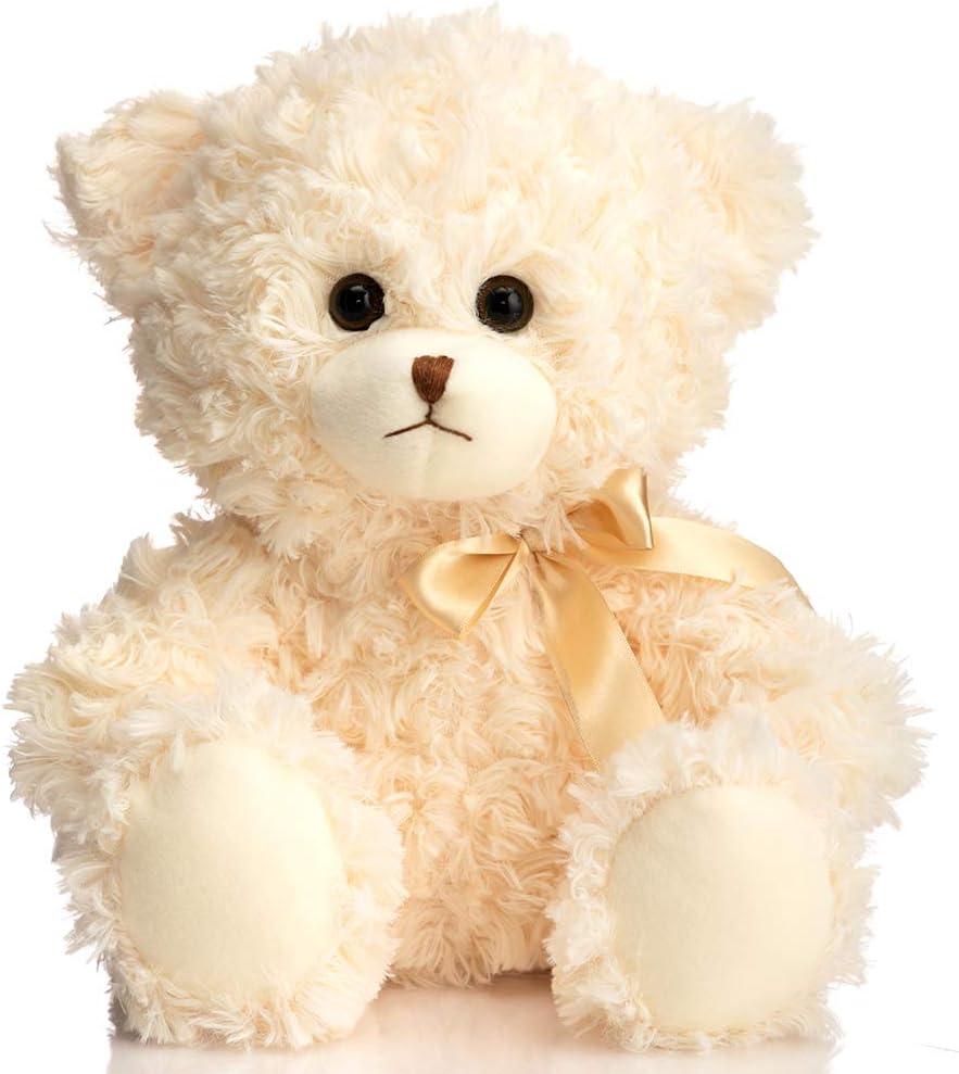 HollyHOME Teddy latest Be super welcome Bear Stuffed Animal with Cute Plush Bir Bow