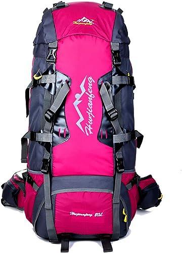 Randonnée Sac à Dos 80L Grande Capacité étanche Résistant à l'usure en Plein Air Sport Daypack Sac De Voyage pour Escalade Touring Camping Alpinisme