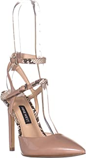 NINE WEST Kimi3 Strappy Pointed Toe Pumps, Natural Multi Synthetic
