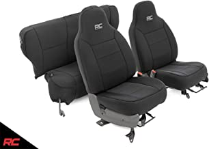 Rough Country Neoprene Seat Covers Black Compatible w 1984-1996 Jeep Cherokee XJ Front/Rear Custom Water Resistant 91021