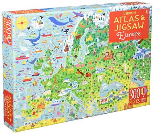Europe (jigsaw & Book) (Usborne Atlas and Jigsaw)
