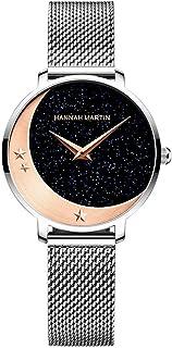 Japan Quartz Women's Watch Stainless Steel Mesh Magnetic Buckle Band Waterproof Ladies Watches Fashion Star Watch