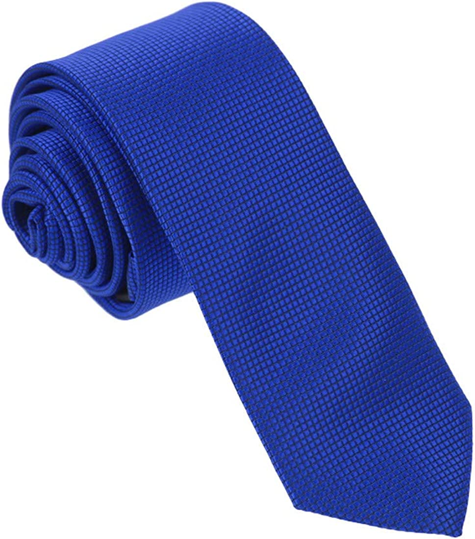 Dan Smith Men's Fashion Checker Microfiber Necktie With Box