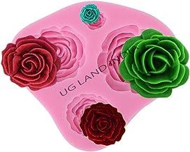 UG LAND INDIA 3D 4 Rose Fondant Mold Silicone Embossing Sugarcraft Baking Tool Cake Baking Sculpting & Modeling Tools Cake...