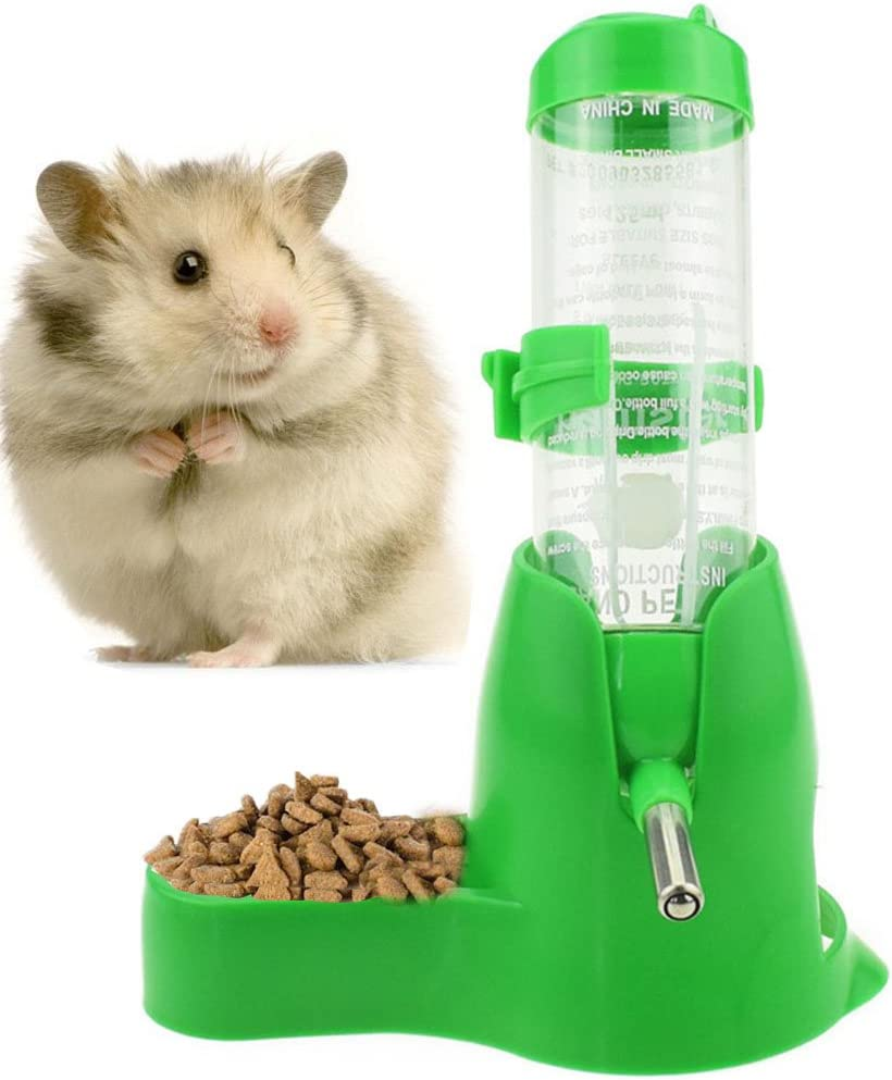 2021 autumn and winter new 125ml 4oz Sales Hamster Water Bottle Food Hanging with Dish Bott