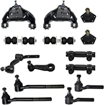 Detroit Axle - 14 Piece Front Suspension Kit - 2 Upper Control Arms, 2 Lower Ball Joints, 2 Sway Bar End Links, Pitman & Idler Arms, Tie Rod Ends, 2 Adjustment Sleeves - 4x4 Models Only