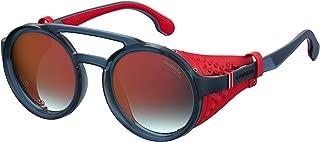 Carrera Mirrored Round Unisex Sunglasses - (CARRERA 5046/S IPQ 49UZ 49 Red Color Lens)