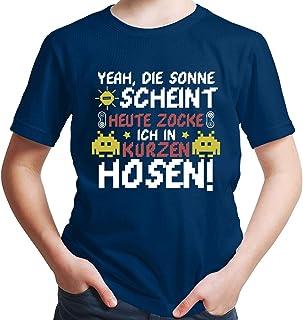 HARIZ, Camiseta para chico, diseño de calcetines, con texto