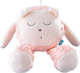myHummy avec capteur Ourson Snoozy Rose Blanc Premium | Peluche Bruit Blanc bébé | Machine à Bruit Blanc - Battement Coeur...