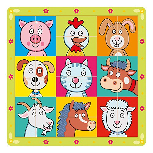 Bino - 88093 - Puzzle - Têtes d'animaux