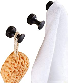ELLO&ALLO Oil Rubbed Bronze Robe/Coat/Hat/Clothes Anti-Rust Hangers Hooks Wall Mounted with Concealed Screws Bathroom Shower and Bath Sponge Bath Towel Hooks, Four-Piece