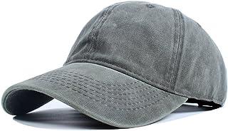 Vankerful Unisex Washed Dyed Cotton Adjustable Solid Baseball Cap
