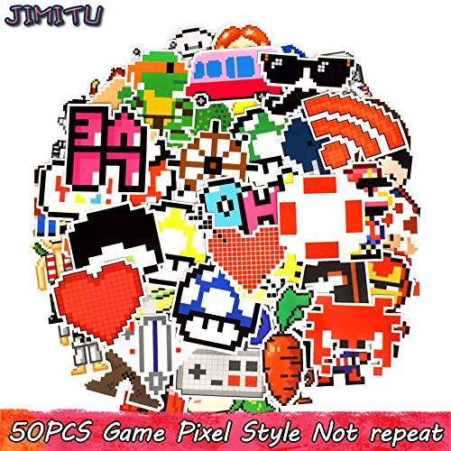 Pixel Anime Stickers Packs Game Nostalgische Cartoon Graffiti Kids Sticker Voor Laptop Telefoon Ps4 Tablet Koffer Fietshelm 50 Stks