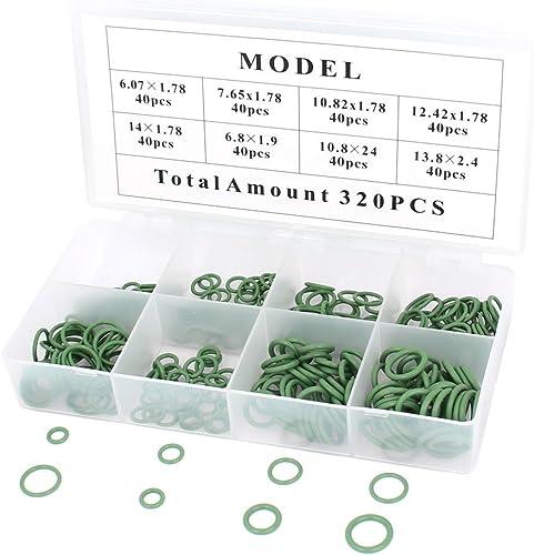 Aire acondicionado y climatización de goma del anillo o sello de aceite Juntas Kit de 320 piezas