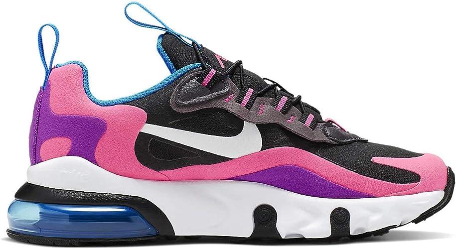 Nike Ragazze Bambini Air Max 270 React Scarpe Casual, (nero/rosa ...