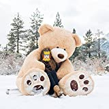 MorisMos Big Plush Giant Teddy Bear Premium Soft Huge Teddy Bear Stuffed Animals Light Brown (Light Brown, 100 Inch)