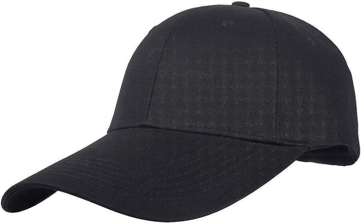 Sportmusies Ajustable Extra Long Bill Baseball Cap Men Women 100% Cotton Visor Hat