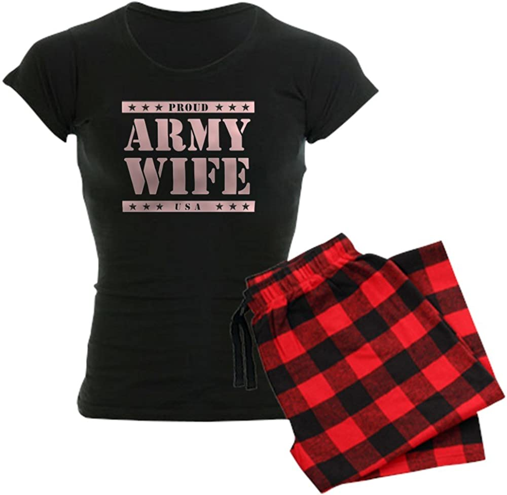 CafePress specialty shop Proud Army Product Wife Pajamas Women's PJs