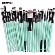 CINIDY 20 pcs Makeup Brush Set tools Make-up Toiletry Kit Wool Make Up Brush Set (Black)