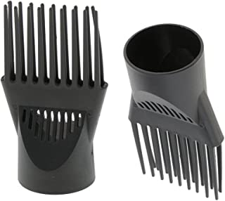 BAOBLADE 2pcs Professional Universal Hairdressing Salon Hair Dryer Diffuser Wind Blow Cover Comb Attachment Nozzle Black Plastic Dual Grip
