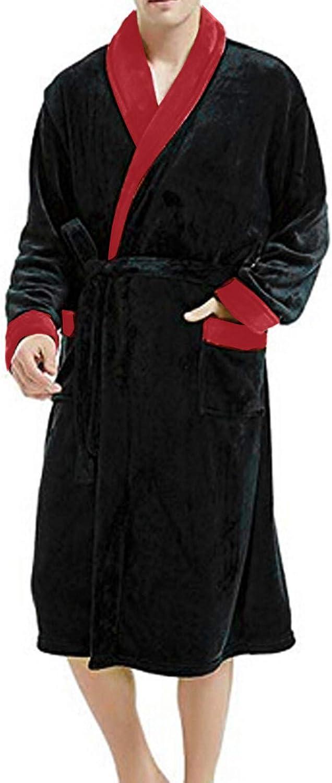 ANJUNIE Men's Winter Plush Bathrobe Lengthened Super-cheap Jacket Sleepwear Regular store