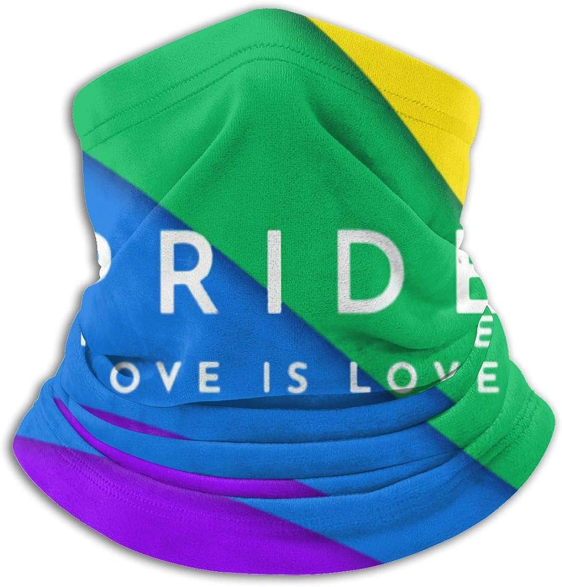 Pride Love Is Love Black Multi-function Neck Warmer Gaiter Polyester Neck Warmer Windproof Winter Neck Gaiter Cold Weather Scarf For Men Women