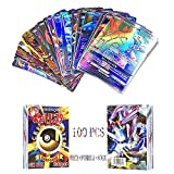 WOO - Carte Poke, 100 Pezzi Poke Carte, Poke Gioco di Carte Collezionabili 100Pcs Poke TCG Card...