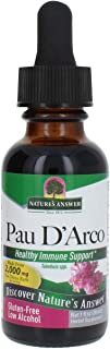 Nature's Answer Pau D'Arco Inner Bark with Organic Alcohol 1 Fluid Ounce | Promotes Healthy Gut Flora | Natural Immune Sup...