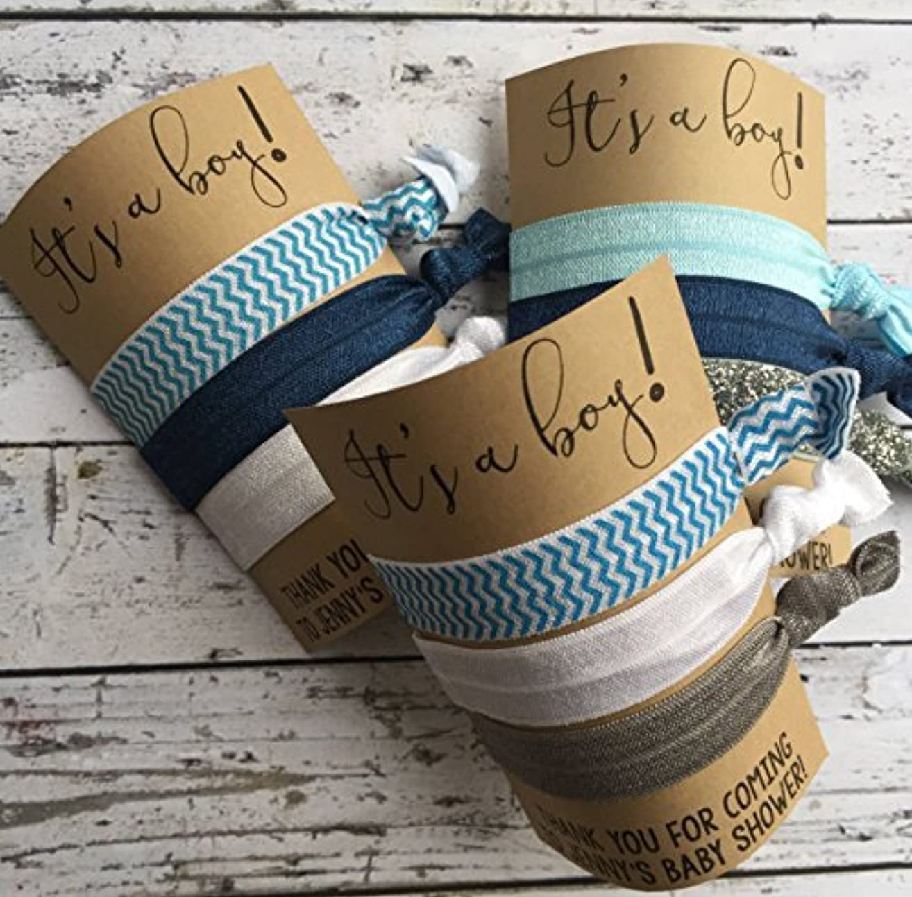 It's a Boy - Baby Shower Knotted Hair Ties