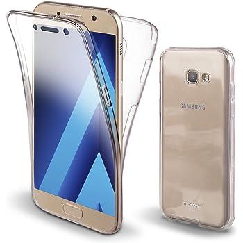 Moozy Funda 360 Grados para Samsung A3 2017 Transparente Silicona ...