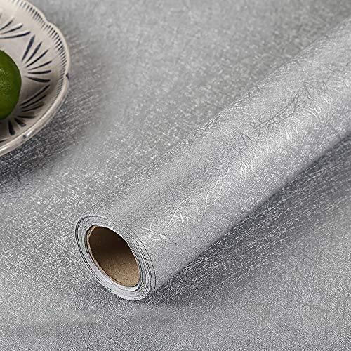 Carta Adesiva Per Mobili Grigio Seta 60CmX3M Vinilo Para Muebles Carta Da Parati Pegatina PVC Camera Da Letto Adesivi Da Cucina Durevoli Bagno Scaffale Mobili Impermeabile