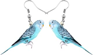 NEWEI Acrylic Elegant Long-tailed Parakeet Parrot Earrings Dangle Drop For Women Girl Sweet Animal Jewelry Charm Gifts