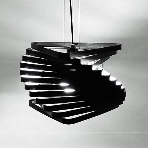GAOLILI Art LED Bar Lampe Creative Personnalité Café Restaurant Lampes Moderne Minimaliste Chambre Lampe E27 (Couleur   Noir-22  18cm-1 pcs)