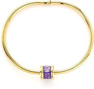 Purple zircon women's bracelet cool fashion personality girlfriends thin open bracelet ring