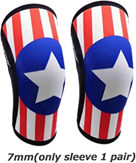 YUANYUAN521 7mm Neoprene Knee Sleeves Squats Weight Lifting Powerlifting Fitness Knee Pad Support Brace Cap Compression