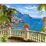 murando - Fototapete selbstklebend Tropische Insel 294x210 cm Tapete Wandtapete Wandbilder Klebefolie Dekofolie Tapetenfolie Wand Dekoration Wohnzimmer - Meer Landschaft Italien c-B-0101-a-a