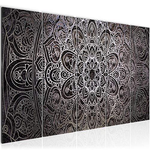 Bilder Mandala Abstrakt Wandbild 200 x 80 cm Vlies - Leinwand Bild XXL Format Wandbilder Wohnzimmer Wohnung Deko Kunstdrucke Pink 5 Teilig - MADE IN GERMANY - Fertig zum Aufhängen 109455b