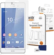 Orzly - Premium Tempered Glass 0.24mm Protective Screen Protector for Sony Xperia Z3 Smartphone (NOT Z3V)