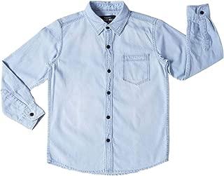 DJ&C By fbb Boy's Indigo Denim Shirt (Ice, 9-10 Years)