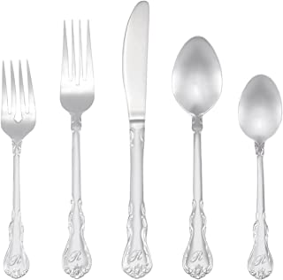 RiverRidge 46-Pc. Monogrammed Flatware, Service for 8, Bouquet Pattern - R