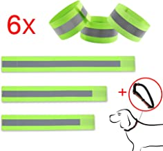 CARSUN Reflective Bands Safety Reflector Strips Bands (6 pcs /3pairs) for Men and Women Child for Night Running, Biking, Walking Bicycle,Reflective Running Gear for Wrist, Arm, Ankle, Leg