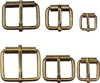 Hysagtek - Set de 60 hebillas de bronce, 6 tamaños diferentes