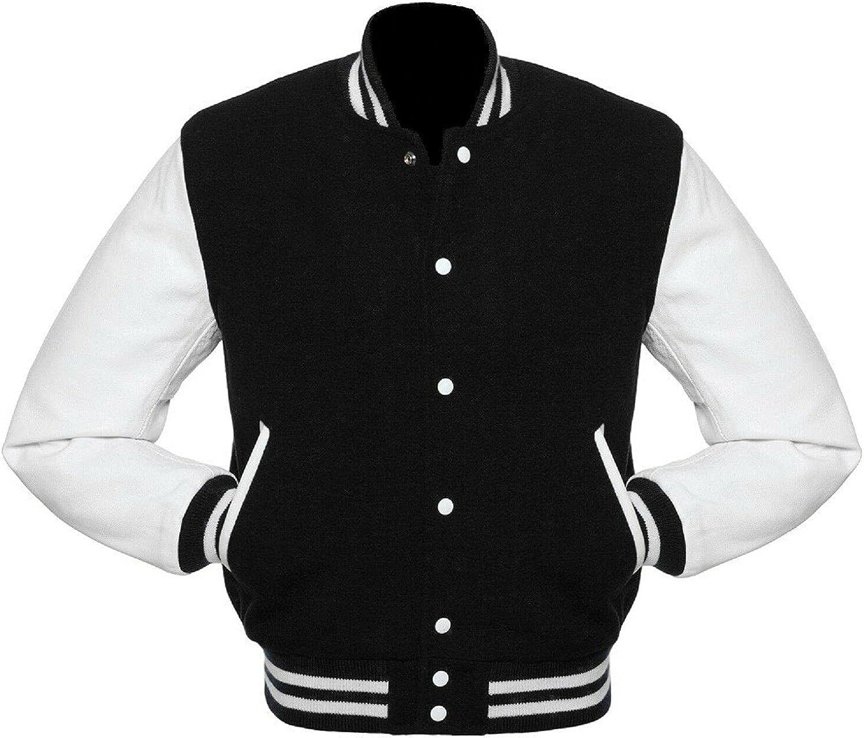 Baseball letterman Varsity Jackets Basketball Jacket Genuine Leather Sleeves Multi wool colors jackets S-5XL