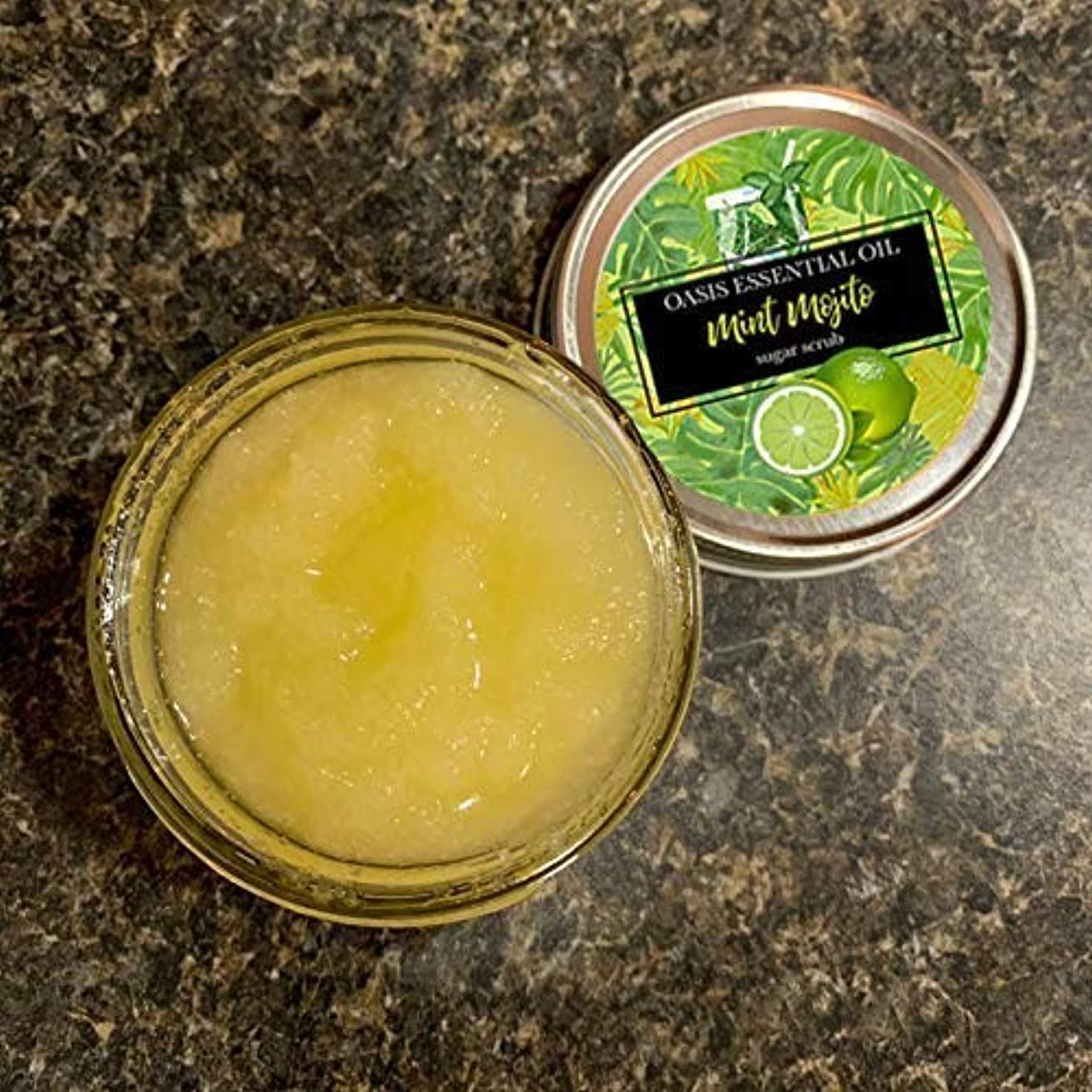 Mojito Sugar Scrub, 4 oz, Body Scrub, Lime, Peppermint, Lime Scrub, Peppermint Scrub, Body Polish, 4 ounce